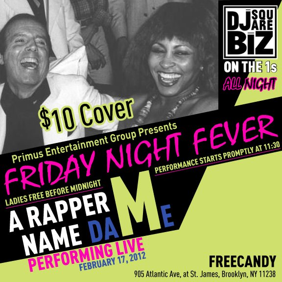 FRIDAY NIGHT FEVER PARTY FEBRUARY 17th