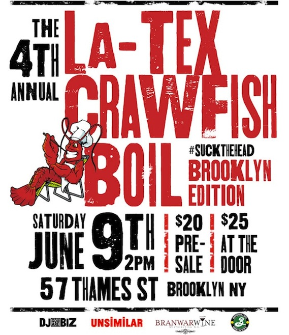 The Brooklyn LaTex Crawfish Boil - Saturday June 9th